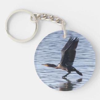 Double-crested Cormorant Single-Sided Round Acrylic Keychain