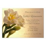 """Double Daffodils Quinceanera Invitation 5"""" X 7"""" Invitation Card"""