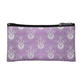 Double Damask Lavender Purple Makeup Bag