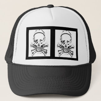Double death's head trucker hat