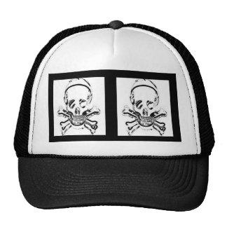 Double death's head trucker hat