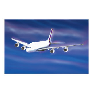 Double Deck Jet Airliner Stationery