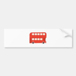 Double Decker Bus Car Bumper Sticker