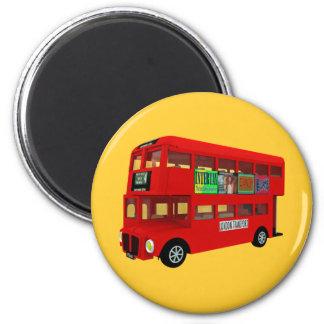 Double-decker bus fridge magnet
