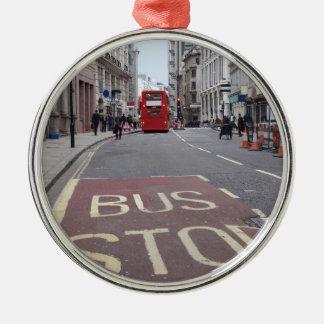 Double decker bus in London Metal Ornament