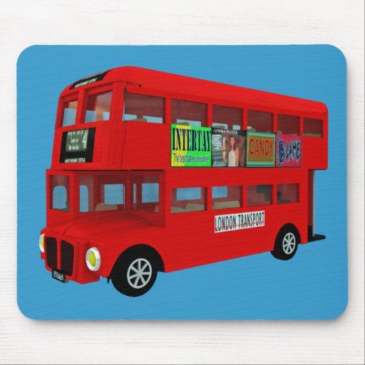 Double-decker bus mousepad
