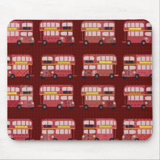 Double Decker Bus Pattern Mouse Pad