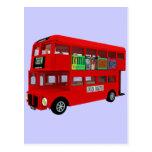 Double-decker bus post card