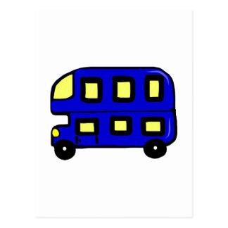 Double Decker Bus Postcard