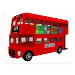 Double-decker bus postcards