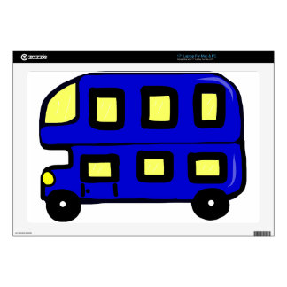 "Double Decker Bus Skins For 17"" Laptops"