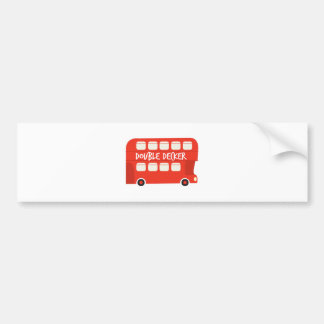 Double Decker Car Bumper Sticker