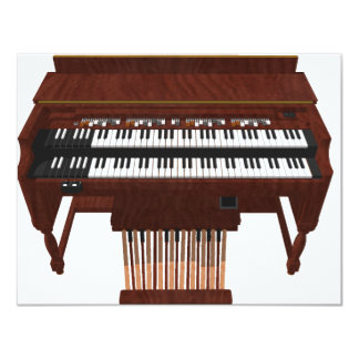 Double Decker Organ: 3D Model: Card