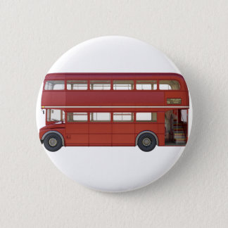 Double Decker Red Bus Button