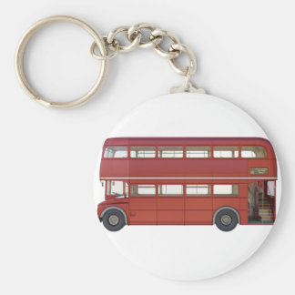 Double Decker Red Bus Keychain
