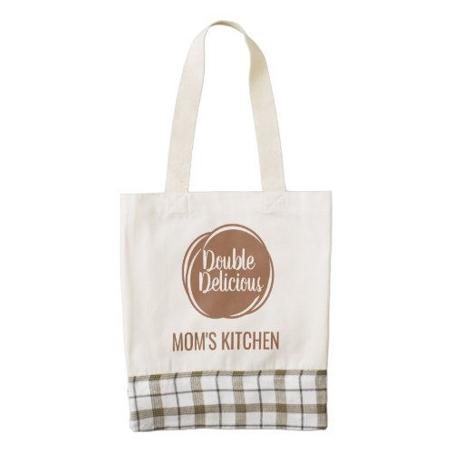 Double Delicious Personalized Custom Zazzle HEART Tote Bag