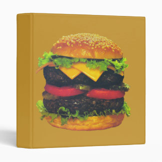 Double Deluxe Hamburger with Cheese 3 Ring Binder