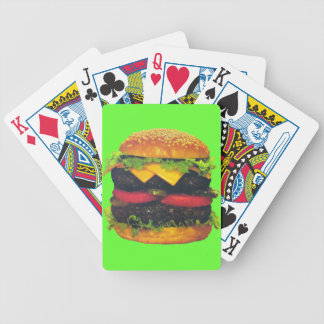 Double Deluxe Hamburger with Cheese Bicycle Playing Cards