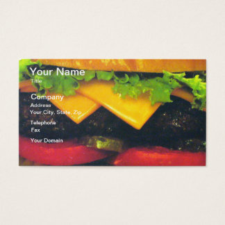 Double Deluxe Hamburger with Cheese Business Card