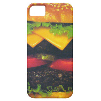 Double Deluxe Hamburger with Cheese iPhone 5 Covers