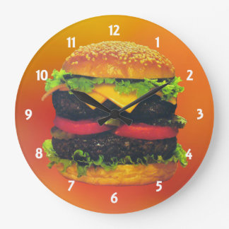 Double Deluxe Hamburger with Cheese Clock