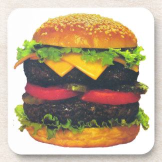 Double Deluxe Hamburger with Cheese Coaster
