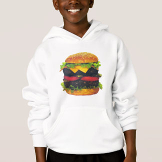 Double Deluxe Hamburger with Cheese Hoodie