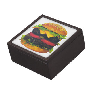 Double Deluxe Hamburger with Cheese Keepsake Box