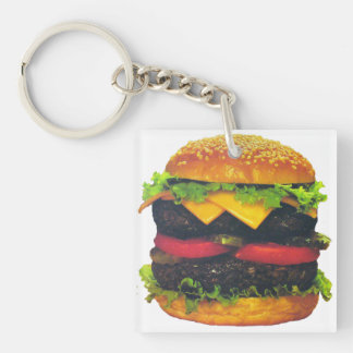 Double Deluxe Hamburger with Cheese Keychain
