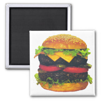 Double Deluxe Hamburger with Cheese Magnet