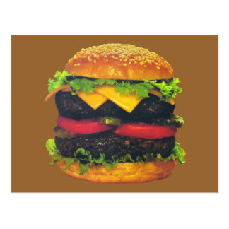 Double Deluxe Hamburger with Cheese Postcard