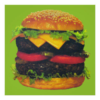 Double Deluxe Hamburger with Cheese Poster