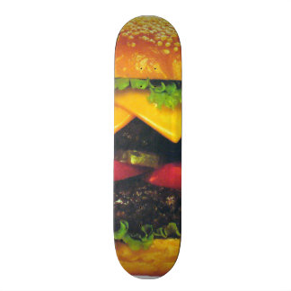 Double Deluxe Hamburger with Cheese Skateboard Deck
