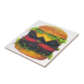 Double Deluxe Hamburger with Cheese Tile