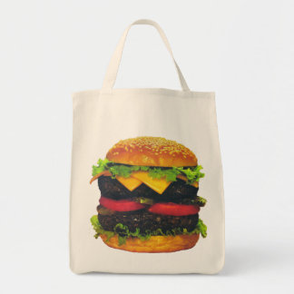 Double Deluxe Hamburger with Cheese Tote Bag
