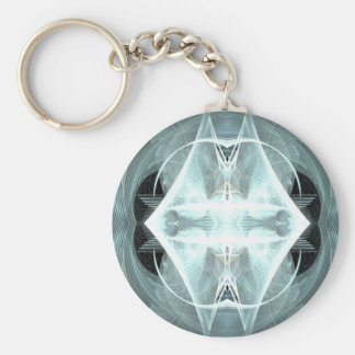 double diamond basic round button keychain