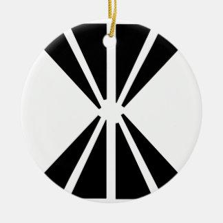 Double Diamond Ceramic Ornament