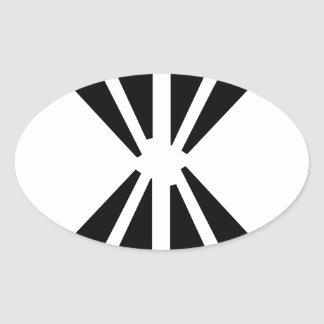 Double Diamond Oval Sticker