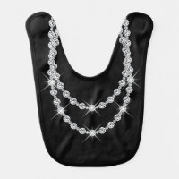 Double Diamonds Baby Bib