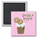 Double Dipper Cookies N Milk Refrigerator Magnet