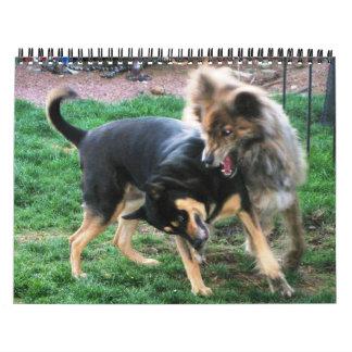Double Dog Calendar with Bubble Ledini