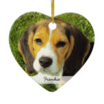 Double Dog Picture Christmas Tree Ornament