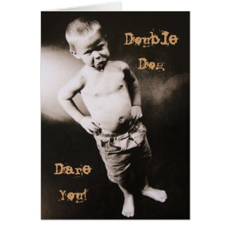 Double Dog Pouting Boy Father's Day Card
