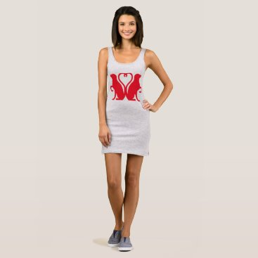 Beach Themed DOUBLE DOGS OF LOVE mini tank dress