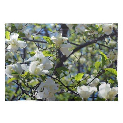 Double Dogwood Flower Placemat Cloth Placemat