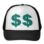 $$$ Double Dollar Sign Mesh Hats