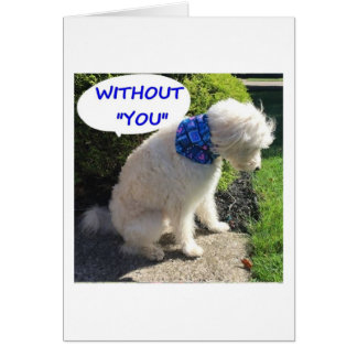 """DOUBLE DOODLE """"WITHOUT YOU I'M BLUE!"""" CARD"""