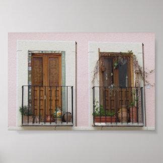 Double Doorway in Toledo, Spain Poster