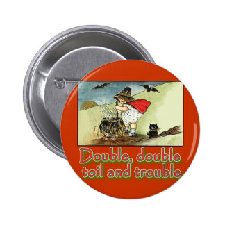 Double Double Toil and Trouble Halloween Tee Pin