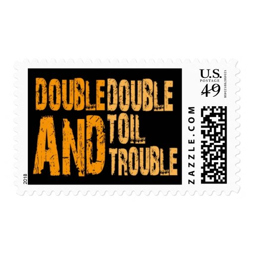Double Double Toil & Trouble | Halloween Postage Stamps